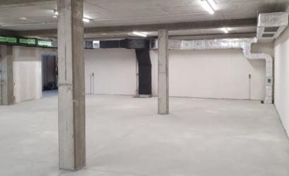 Kanalinstallation für den Ausstellungsraum